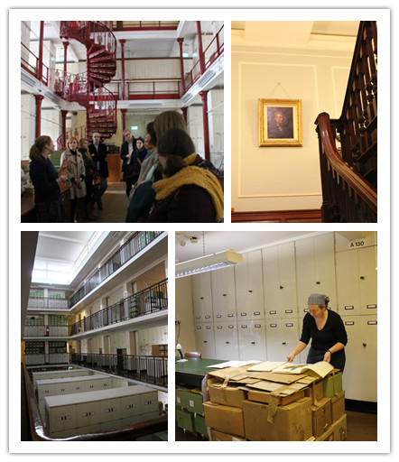 Herbarium collection and the original collector's portrait