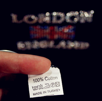 Shirt of London Made in Turkey, (photo by author, taken in Cool Britannia, summer 2014)