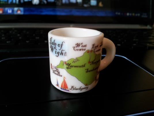Isle of Wight map fridge magnet mug