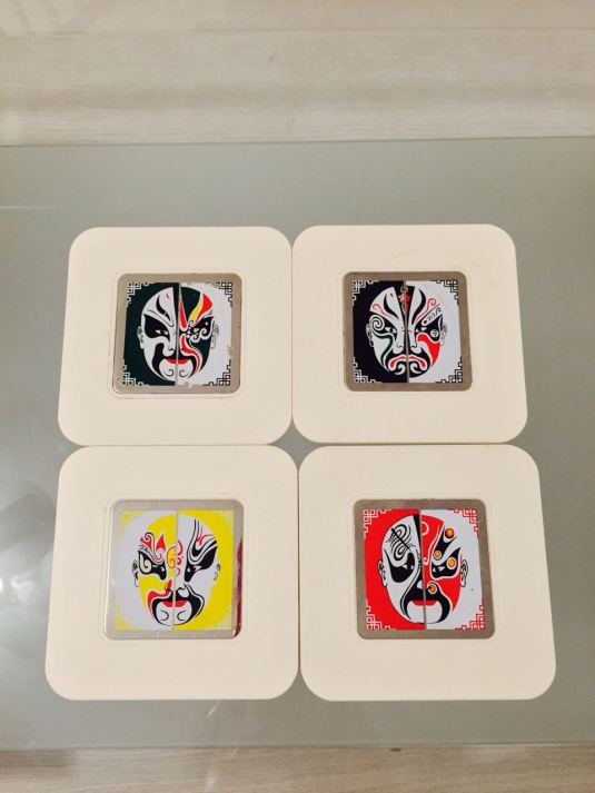 Wang Wei's set of Beijing Opera Facial Mask Coaster